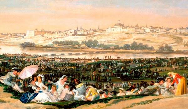 La pradera de San Isidro, e Goya, 1788