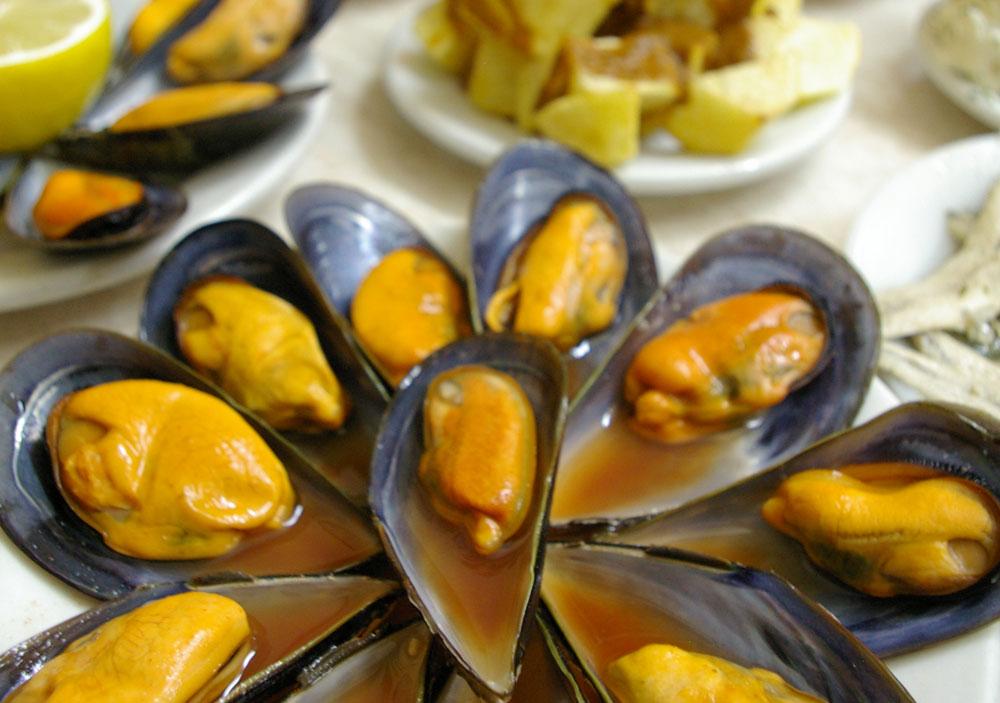 マドリードの定番バル ムール貝