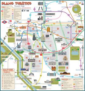 マドリード観光メトロマップ