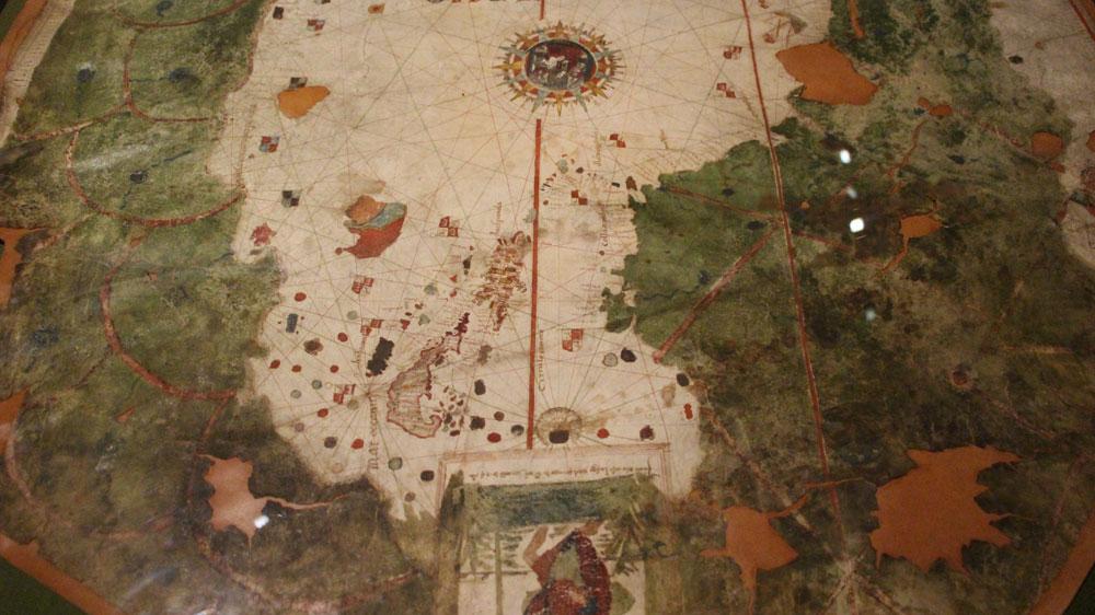 マドリード海軍博物館、新大陸最古の地図