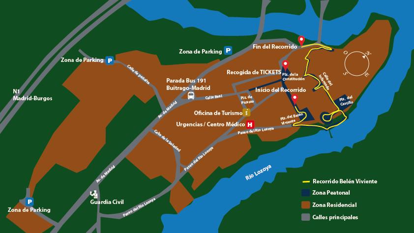 ブイトラゴの人間ベレン ルートマップ